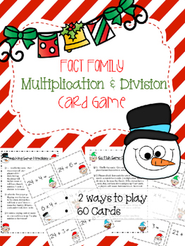 Fact Family Christmas Math Game