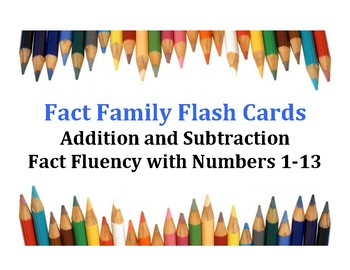 Fact Family Flashcards - Addition & Subtraction