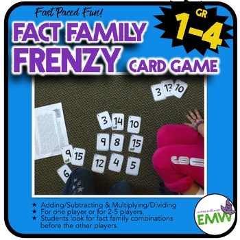 Fact Family Game for Adding, Subtracting, Multiplying, or