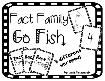 Fact Family Go Fish