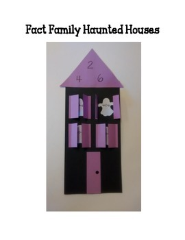 Fact Family Haunted House Halloween Paper Craft