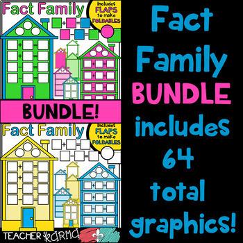 Fact Family House Clipart BUNDLE KIT * Foldables