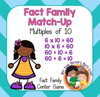 Fact Family Match - Multiples of 10