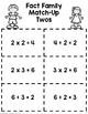 Fact Family Match - Multiples of 2