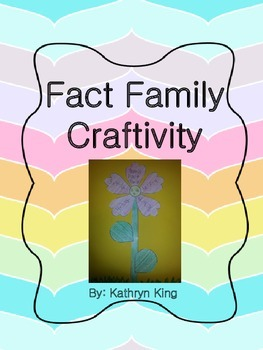Fact Family Math Center Craft