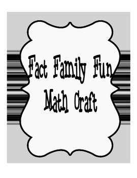 Fact Family Math Craft
