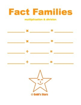 Fact Family Multiplication & Division Fill-in Page Math Printable