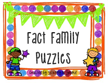{$1 Deal} Fact Family Puzzles