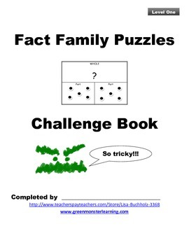Fact Family Puzzles: Level One