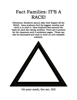 Fact Family Race Directions