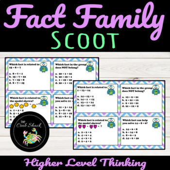 Fact Family Scoot/ Task Cards