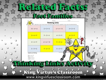 Fact Family Thinking Links - Fact Families - Addition Subt