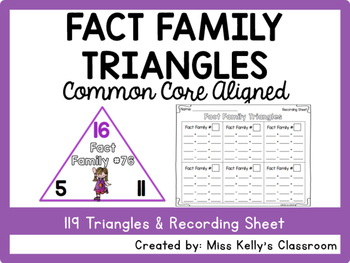 Fact Family Triangles (Common Core Aligned)