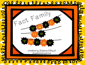 Fact Family Trick or Treat