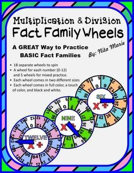 Fact Family Wheels (Multiplication)