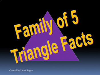 Family of 5 Math Facts