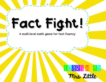 Fact Fight! A Fluency Game for Addition, Subtraction, and