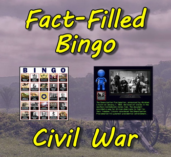 Fact-Filled Bingo & Slideshow - Civil War
