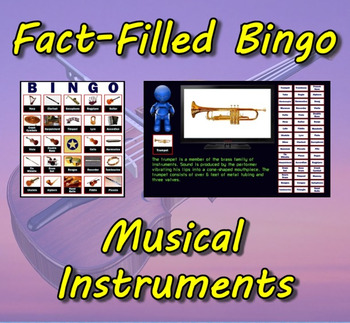 Fact-Filled Bingo - Musical Instruments