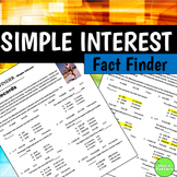 Fact Finder: Simple Interest Worksheet