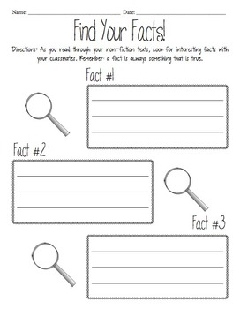 Fact Finder Worksheet