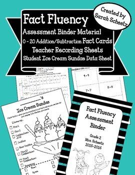 Fact Fluency Assessment Binder