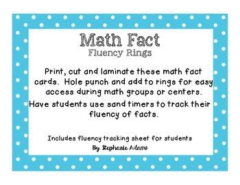Fact Fluency Cards