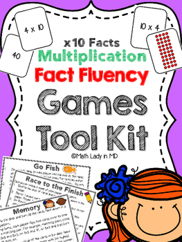 Fact Fluency Games Tool Kit: x10 Multiplication