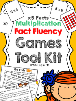 Fact Fluency Games Tool Kit: x5 Multiplication.  2nd, 3rd,