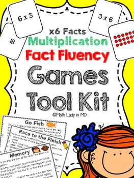 Fact Fluency Games Tool Kit: x6 Multiplication. 2nd, 3rd,