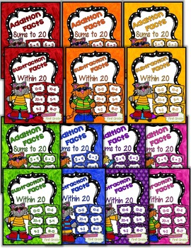 Fact Fluency Practice Cards Addition and Subtraction withi