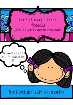 Fact Fluency Probes Freebie