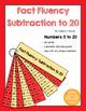Math Fact Fluency Strips BUNDLE: Addition Subtraction Plac