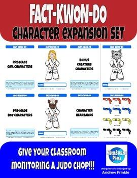 Fact-Kwon-Do Character Expansion - Classroom Monitoring &