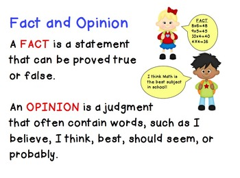 Fact & Opinion Poster