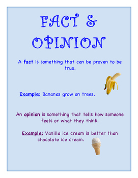 Fact & Opinion Sort