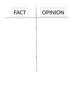 Fact & Opinion T-Chart