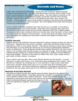 Fact Sheet: Steroids and Teens