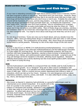 Fact Sheet: Teens and Club Drugs