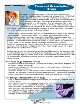 Fact Sheet: Teens and Prescription Drugs