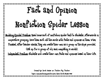 Fact Vs. Opinion: Spiders