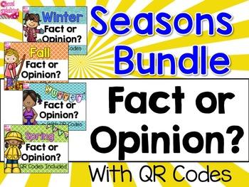 Seasons Fact and Opinion Bundle