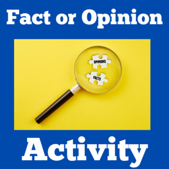 Fact and Opinion Task Cards | Fact and Opinion Activity |