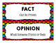 Fact and Opinion {A Sorting Activity}