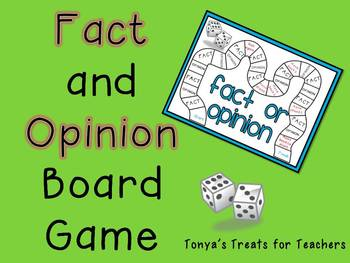 Fact and Opinion Board Game