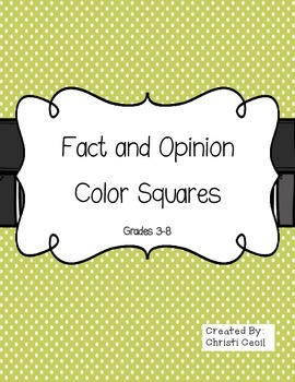 Fact and Opinion Color Squares