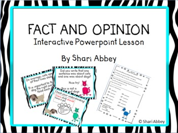 Fact and Opinion - Interactive Lesson