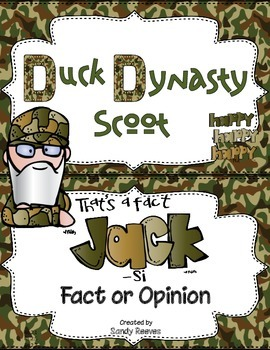 Fact and Opinion Scoot Duck Dynasty Theme