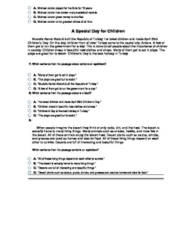 Fact and Opinion Study Guide or Quiz