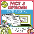 Fact and Opinion Task Cards